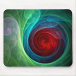 Red Storm Abstract Art Mousepad