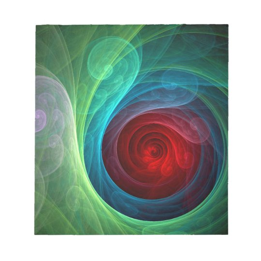 Red Storm Abstract Art Notepad