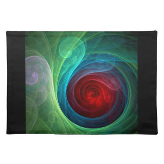 Red Storm Abstract Art Placemat