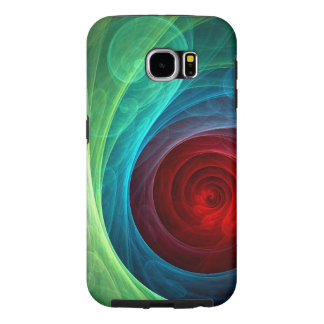 Red Storm Abstract Art Samsung Galaxy S6 Case