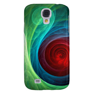 Red Storm Abstract Art Samsung S4 Case