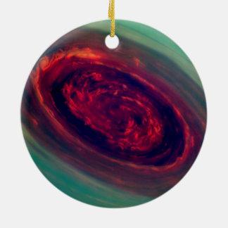 Red Storm gigantesco en el planeta Saturn Adornos De Navidad