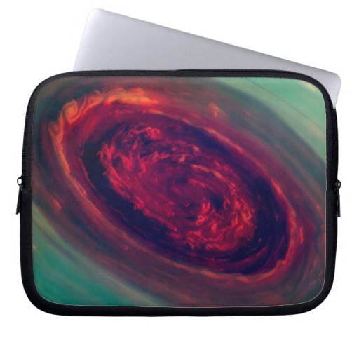 Red Storm gigantesco en el planeta Saturn Funda Computadora