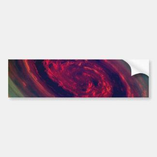 Red Storm gigantesco en el planeta Saturn Pegatina Para Auto
