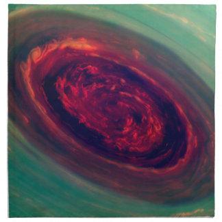 Red Storm gigantesco en el planeta Saturn Servilleta