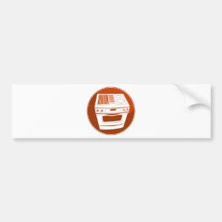Red Stove Button Car Bumper Sticker