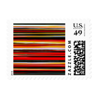 RED STRATA (an abstract art design) ~.jpg Postage