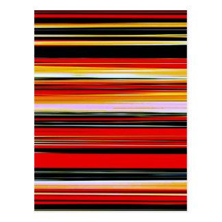 RED STRATA (an abstract art design) ~ Postcard