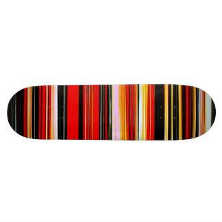 RED STRATA (an abstract art design) ~ Skateboard Deck