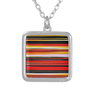 RED STRATA (an abstract art design) ~ Square Pendant Necklace