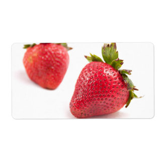 Red Strawberries Personalized Shipping Labels