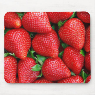 Red Strawberries Pattern Design Mouse Pad