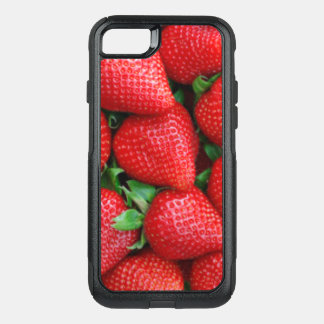 Red Strawberries Pattern Design OtterBox Commuter iPhone 8/7 Case