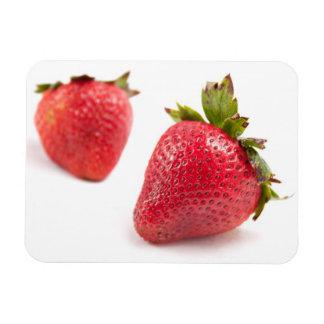 Red Strawberries Rectangular Photo Magnet