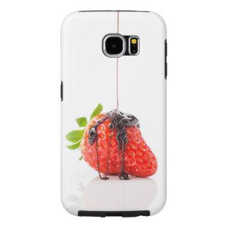 Red strawberries samsung galaxy s6 case