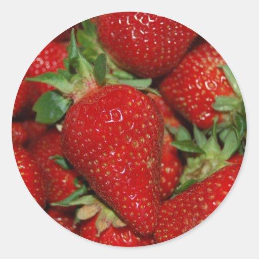 Red Strawberries Sticker