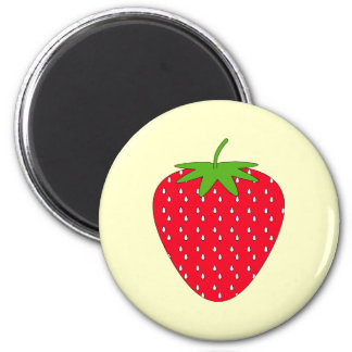 Red Strawberry. 2 Inch Round Magnet