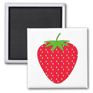 Red Strawberry. 2 Inch Square Magnet
