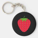 Red Strawberry. Basic Round Button Keychain