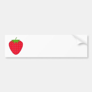 Red Strawberry. Car Bumper Sticker