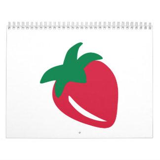 Red strawberry calendar