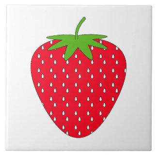 Red Strawberry. Ceramic Tile