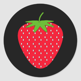 Red Strawberry. Classic Round Sticker