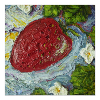 Red Strawberry Fine Art Poster