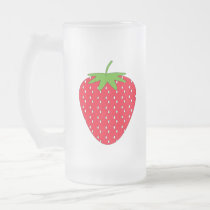 Red Strawberry. Frosted Glass Beer Mug