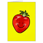 Red strawberry greeting card