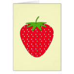 Red Strawberry. Greeting Card