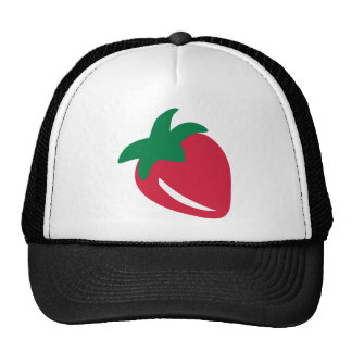 Red strawberry mesh hats