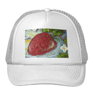 Red Strawberry Mesh Hat