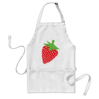 red strawberry icon adult apron
