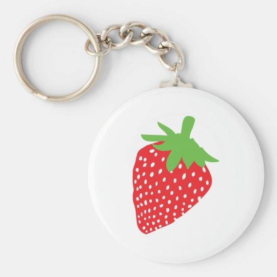 red strawberry icon keychain