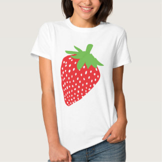 red strawberry icon t-shirt