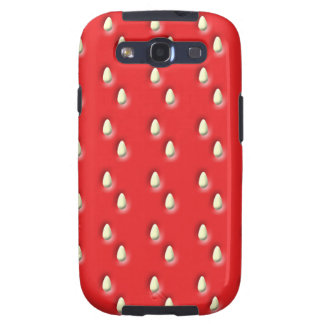 Red Strawberry Pattern Galaxy S3 Cover