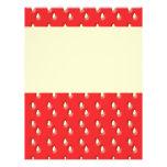 Red Strawberry Pattern. Custom Flyer