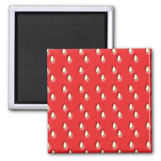 Red Strawberry Pattern. Fridge Magnets