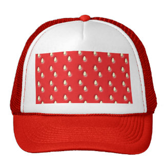 Red Strawberry Pattern. Hats