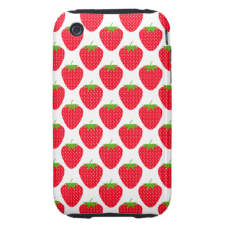 Red Strawberry Pattern. iPhone 3 Tough Case