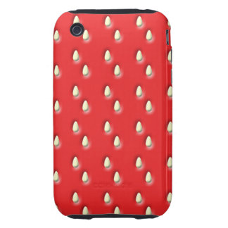 Red Strawberry Pattern. iPhone 3 Tough Cover