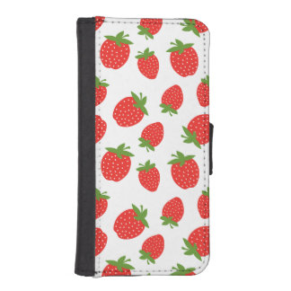 Red Strawberry Pattern iPhone SE/5/5s Wallet Case