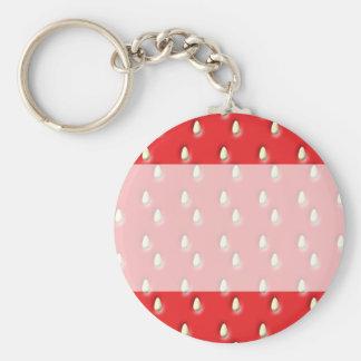 Red Strawberry Pattern. Keychain
