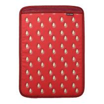 Red Strawberry Pattern. MacBook Sleeve