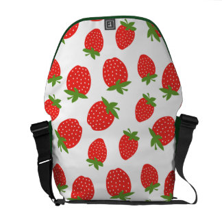 Red Strawberry Pattern Courier Bag