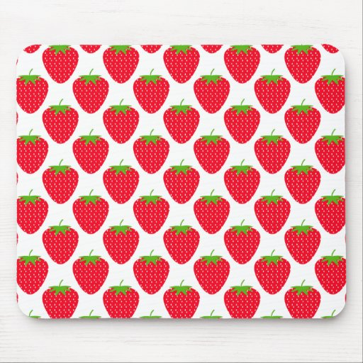 Red Strawberry Pattern. Mouse Pad