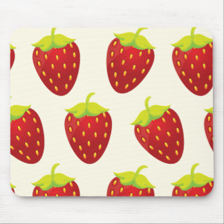 Red Strawberry Pattern Mouse Pad