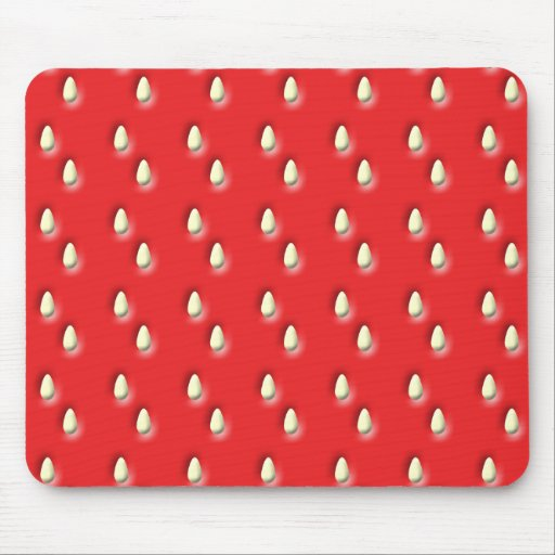 Red Strawberry Pattern. Mousepads