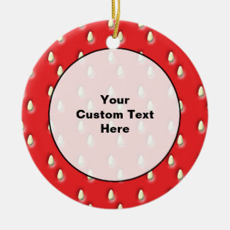 Red Strawberry Pattern. Christmas Tree Ornaments